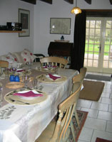 Dining area in the gite