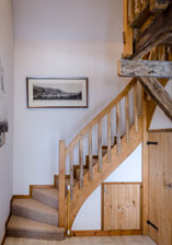 Wonderful old staircase in one of the gites